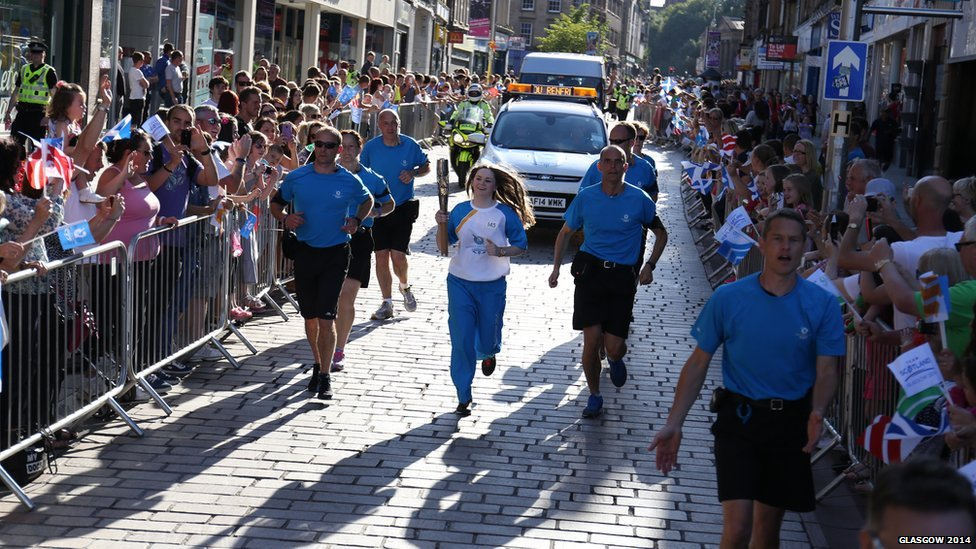 baton relay in Paisley