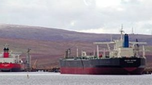 Tankers at Sullom Voe [Pic: Undiscovered Scotland]