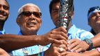 Team Fiji with the baton