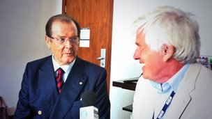 Roger Moore and Peter Allen