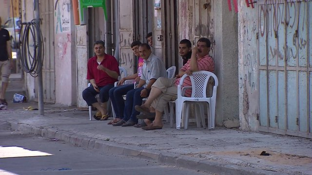 Men on streets of Gaza