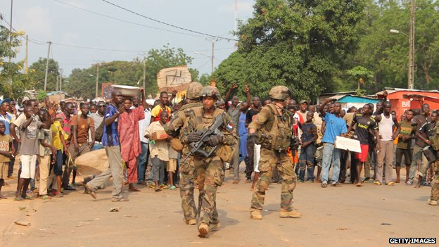 French troops near Bangui