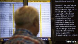 Man at Schipol airport