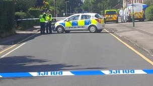 Scene at Hermitage Road, Solihull