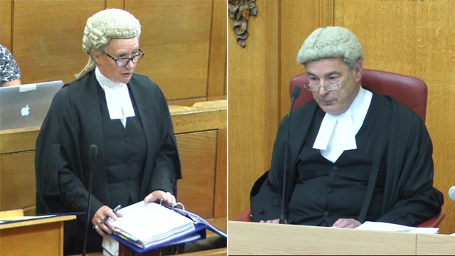 Sally O'Neill QC and Lord Justice Pitchford