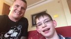 Kieran and David Weir selfie