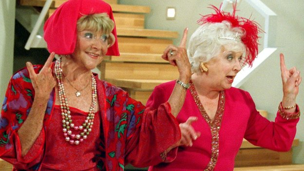 Dora Bryan as Dolly and June Whitfield as Mother in Absolutely Fabulous