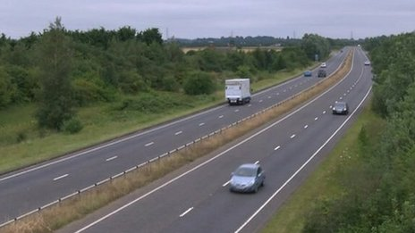 A47 in Norfolk