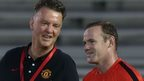 VIDEO: Rooney gets shooting tips from Van Gaal