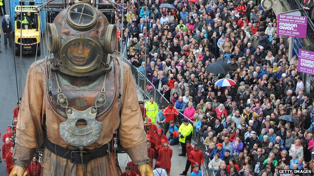 Deep sea diver giant