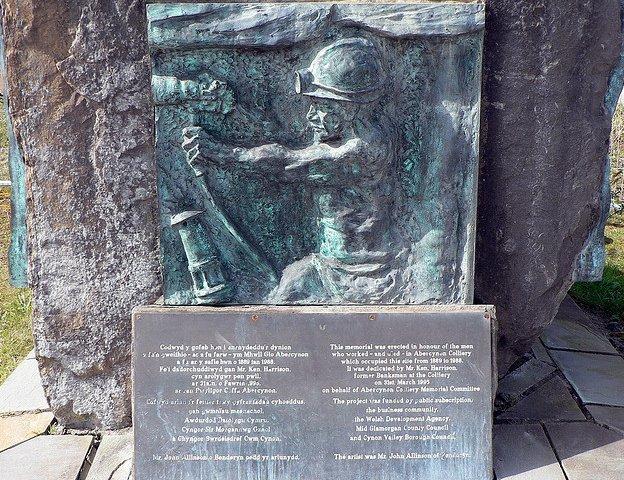 Abercynon mining memorial plaque