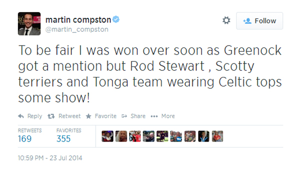 Martin Compston tweet