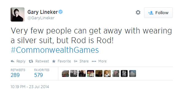 Gary Linekar tweet