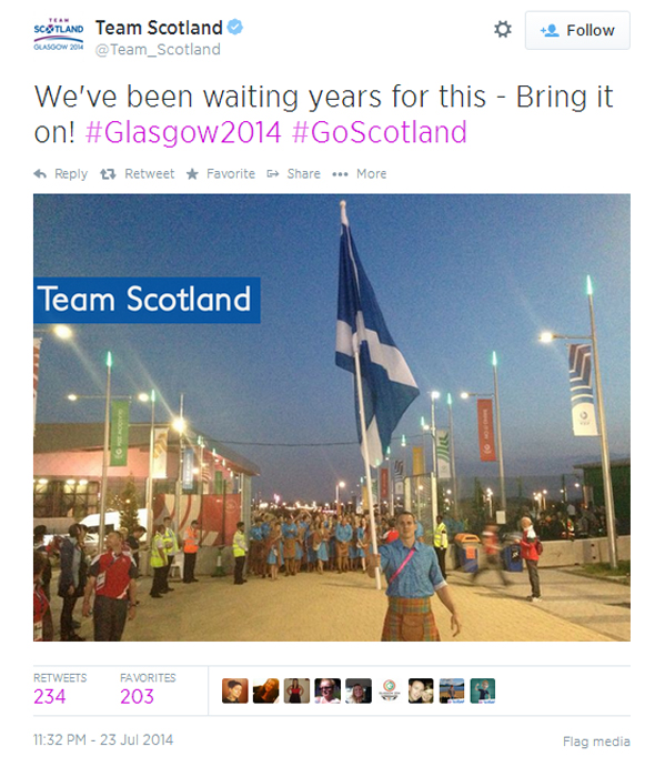 Team Scotland tweet