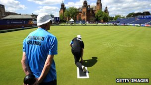 Falkland Islands Lawn Bowls at Kelvingrove