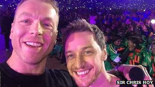 Sir Chris Hoy and James MacAvoy