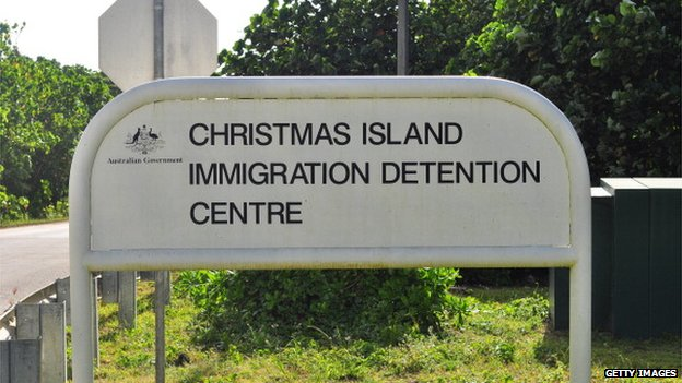 Sign for Christmas Island Immigration Detention Centre
