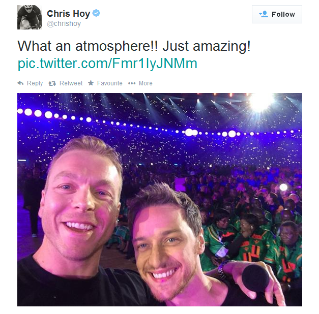 Chris Hoy and James McAvoy