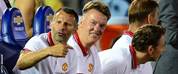 Manchester United boss Louis van Gaal and assistant Ryan Giggs