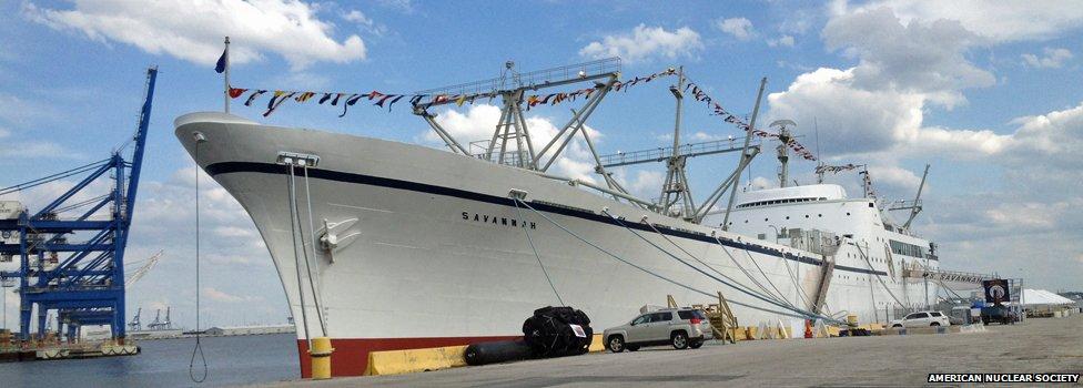 The NS Savannah at dock