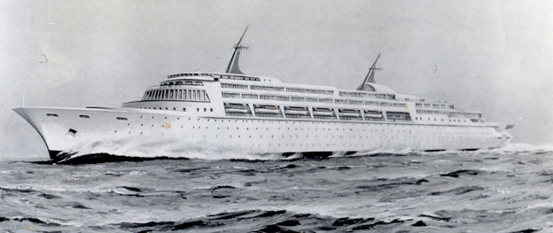 Sketch for a proposed UK nuclear ocean liner