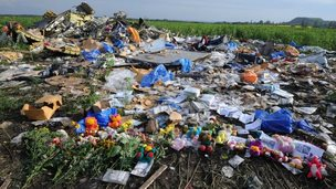 Flowers at crash site