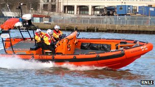 RNLI crew in London