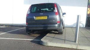 Bad parking in Lowestoft