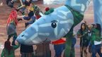 Loch Ness monster model at Commonwealth Games opening ceremony in Glasgow