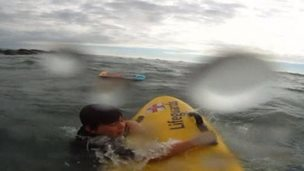 The young boy was rescued by an RNLI lifeguard