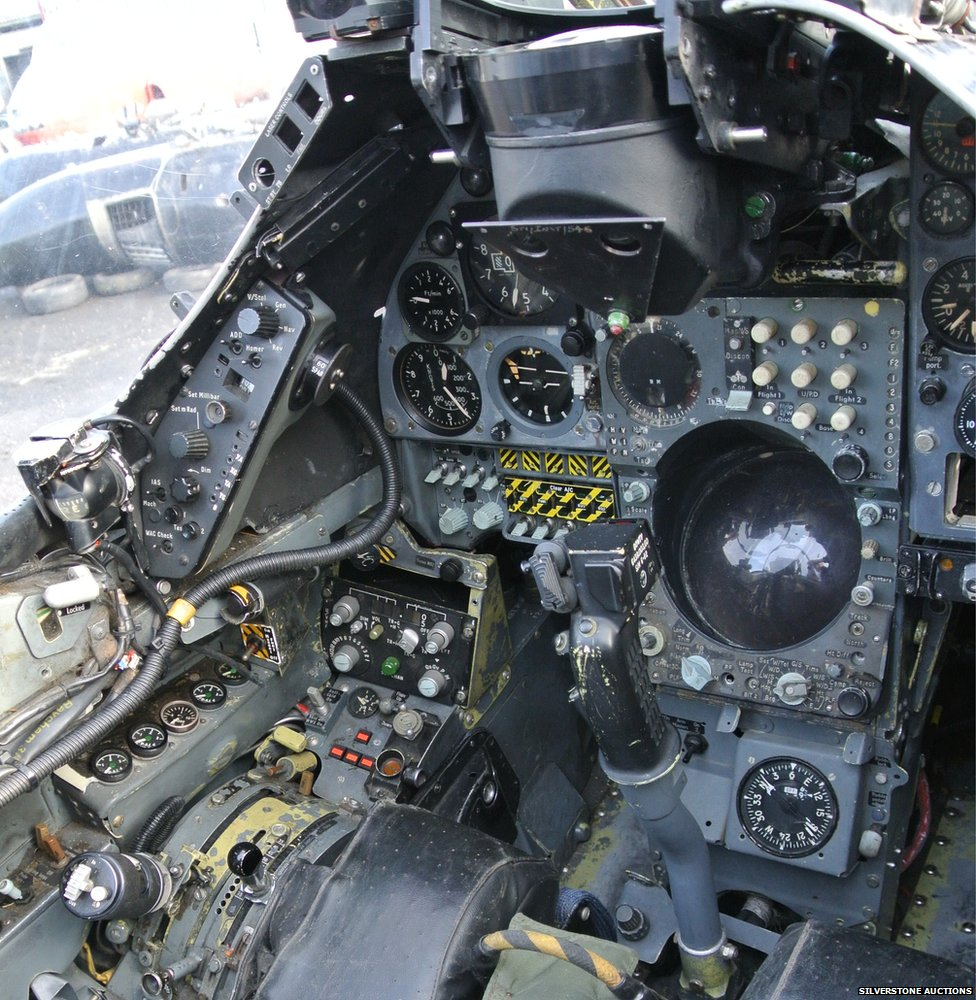 Cockpit of 1976 Hawker Siddeley Harrier GR3 Jump Jet