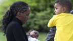 Meriam Yahia Ibrahim Ishag and her two children in Rome