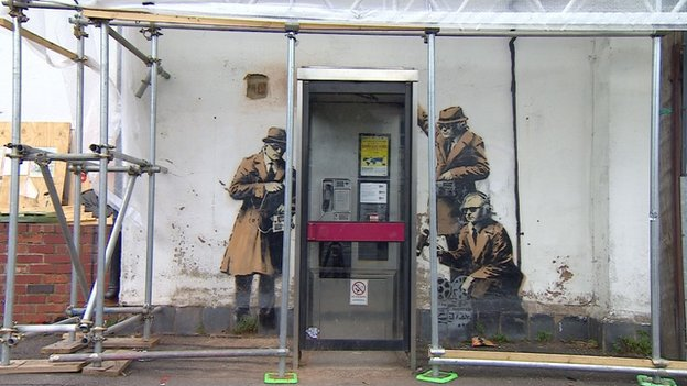 Banksy artwork in Cheltenham