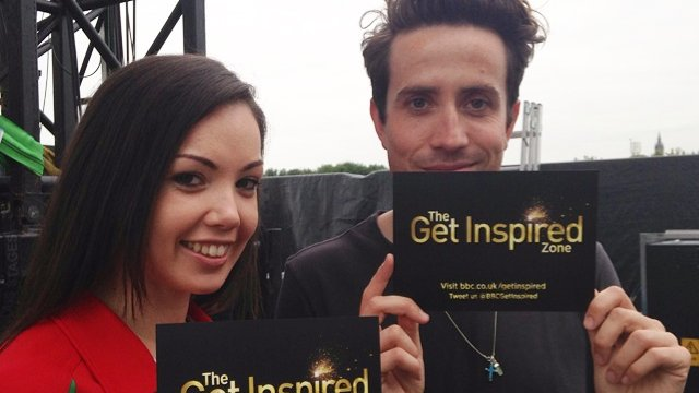 Nick Grimshaw and Steph Owens