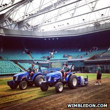 Renovation on Centre Court