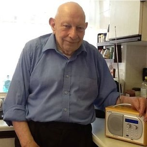 old man and DAB radio