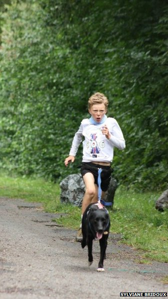 Rowan Saxton and Henry competing
