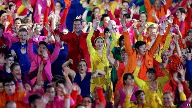 Dancers at opening ceremony