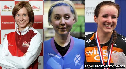Joanna Rowsell, Katie Archibald and Elinor Barker are all aiming for cycling medals tonight.