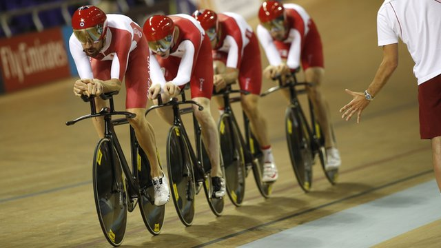 Glasgow 2014: Sir Bradley Wiggins leads England's Men's Team Pursuit riders