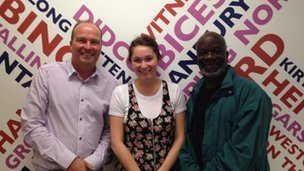 Malcolm with Bethan Cullinane and Joseph Marcell