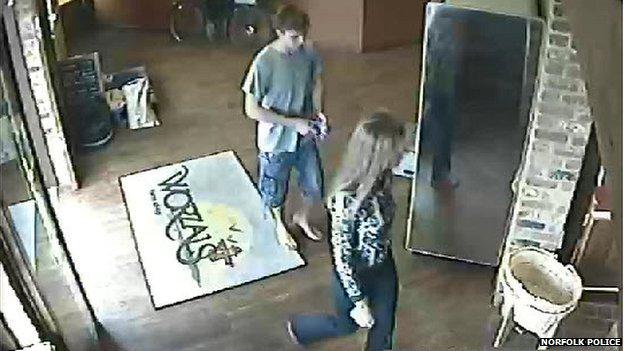 CCTV of Tadas Zaleskas and Nonita Karajevaite