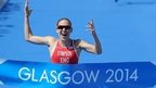 Jodie Stimpson wins the Glasgow triathlon event