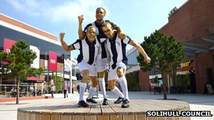 Man Made Youth Company creat a human version of the West Brom player statue