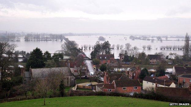 Somerset Levels under water