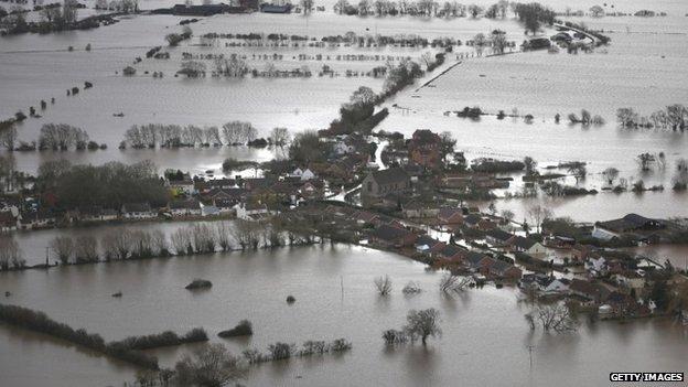 Moorland under water