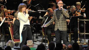 Chrissie Hynde and Neil Tennant with the BBC Concert Orchestra