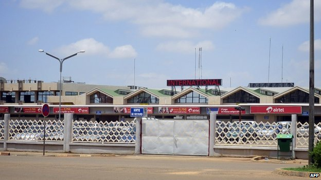 Ouagadougou airport in Burkina Faso. 24 July 2014