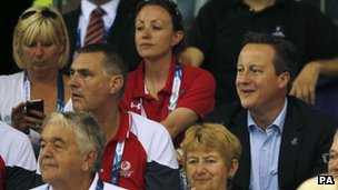 David Cameron at Emirates Arena