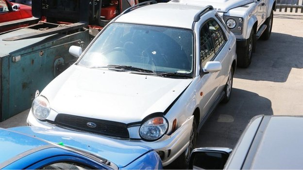 Damaged Subaru Impreza